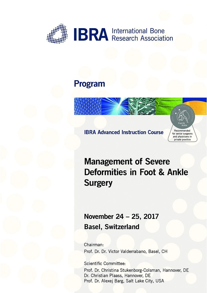 Advanced Instruction Course On Foot And Ankle Surgery Ibra