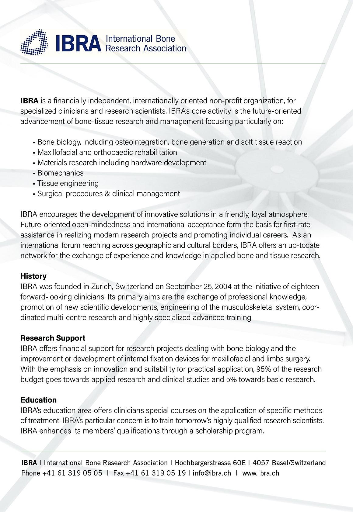 Approaches & Anatomy, SFAS & IBRA Collaboration | IBRA ...
