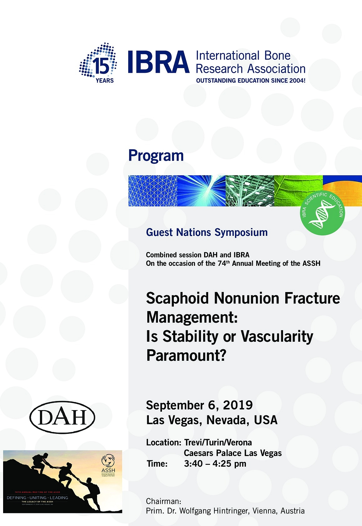 Guest Nations Symposium: Scaphoid Nonunion Fracture